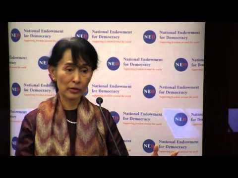 The 2012 Democracy Award Aung San Suu Kyi