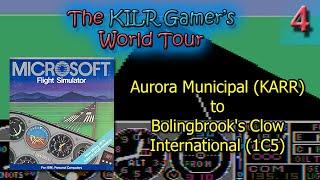 (DOS) Flight Simulator 2: Aurora Municipal (KARR) to Clow Intl (1C5) || World Tour