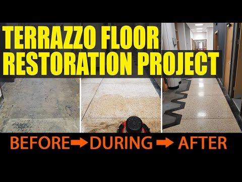 Terrazzo Floor Restoration Cardiff University