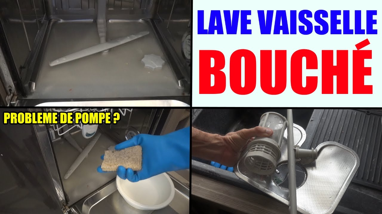 Dishwasher clogged filter pump does not drain water no for Interieur lave vaisselle bosch