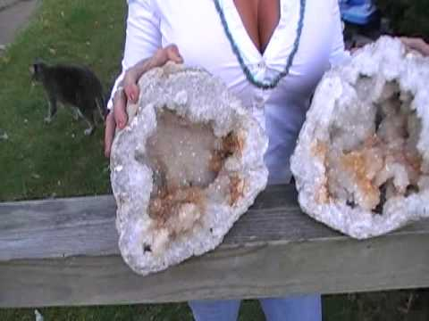 Citrine Clear Quartz Missouri Geode Treasure