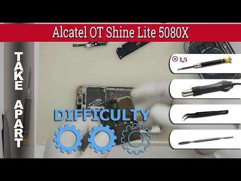 How To Disassemble 📱 Alcatel OT Shine Lite 5080X Take Apart Tutorial