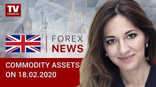 InstaForex tv news: 18.02.2020: Oil and commodity currencies lose ground (Brent, USD/RUB)