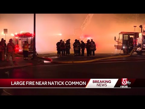 Ashlee - One Firefighter Injured Battling 8-Alarm Fire In Downtown Natick