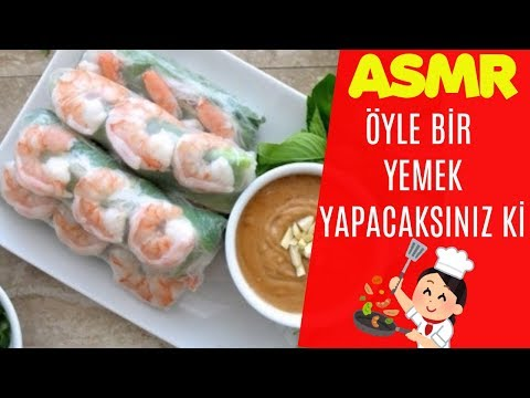 Öyle bir yemek yapacaksınız ki! Vietnam Spring Rolls Tarifi (İLK DEFA!)