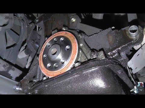 Замена заднего сальника коленвала и выжимного подшипника  ВАЗ 2111