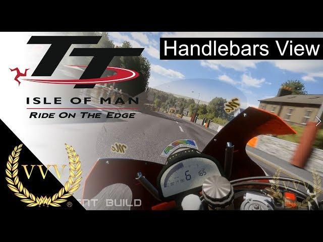 TT Isle of Man Gameplay - Handlebars view and chat