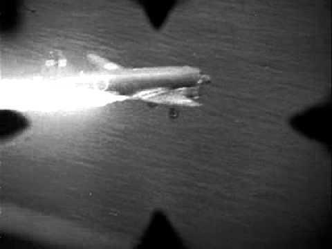 Japanese transport plane shot down - gun camera video