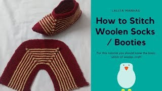 To stitch woolen socks / booties this #winter
