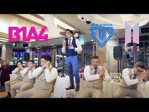 K-Pop (BTS, Big Bang & B1A4) / Disney Groomsmen Surprise Wedding Dance (Higher Quality)