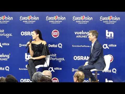 Eurovision Press Conference: Elina Nechayeva (Estonia, Lisbon 2018)
