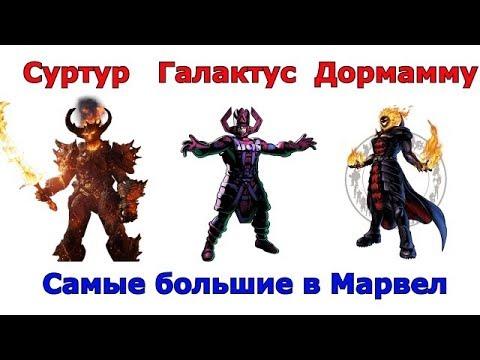 Сравнение самых больших персонажей Марвел