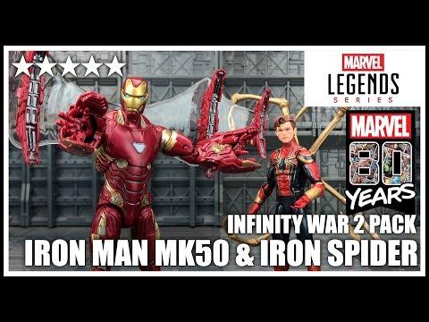 Marvel 80th Anniversary: Marvel Legends Infinity War IRON MAN MK50 & IRON SPIDER 2 Pack