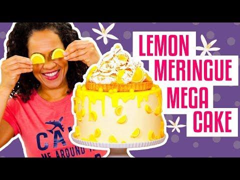How To Make A Sweet & Tangy LEMON MERINGUE PIE MEGA CAKE   Yolanda Gampp   How To Cake It