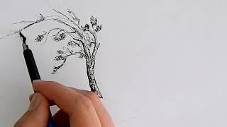 Как нарисовать дерево красиво? Speed Art - How to draw tree