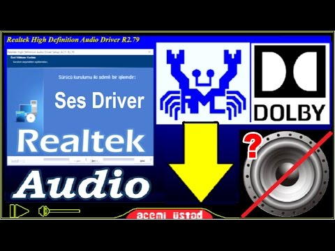 Audio driver download and install [Realtek audio driver] Dolby Digital for  special models !
