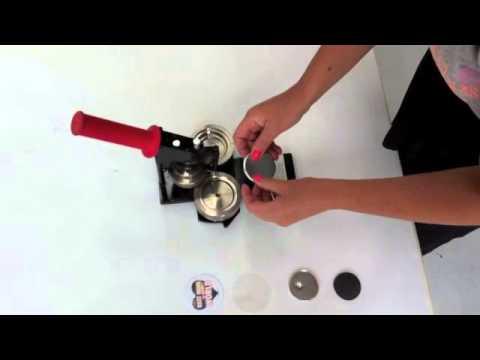 How to make a fridge magnet using a Tecre Badge Machine