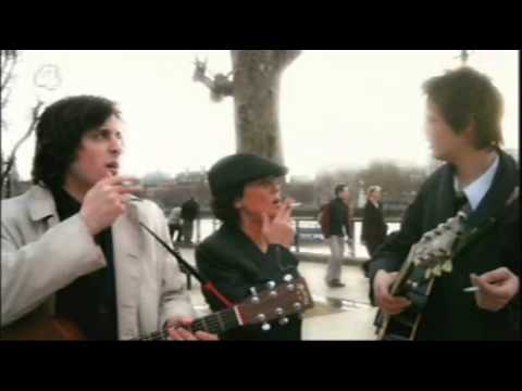 Pete Doherty, Carl Barât and Sadie Frost