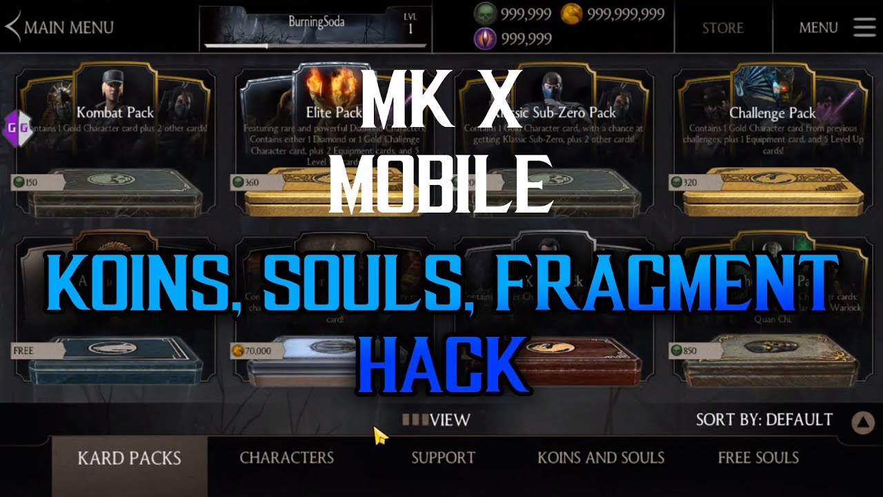 Mortal Kombat X (Android) Koins, Soul, and Fragment Hack with Game Guardian  2019