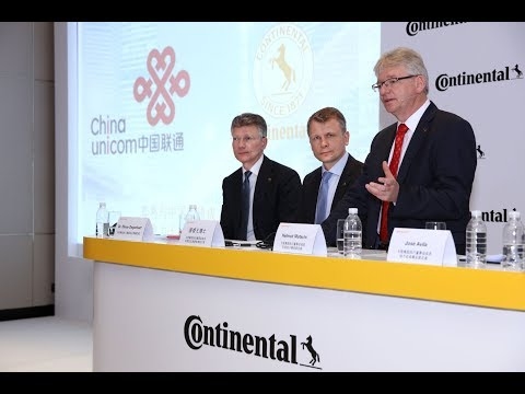 Continental AG, China Unicom Set Up Transport Systems Venture
