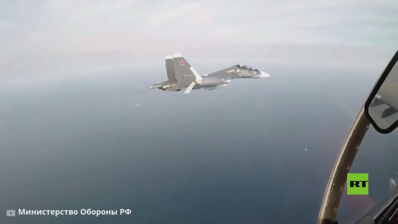 مقاتلات سو-30 تضرب أهدافا برية أثناء  التحليقات ي مقاطعة كالينينغراد  - 15:54-2021 / 9 / 22