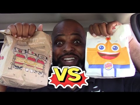 BURGER KING KIDS MEAL vs MCDONALDS HAPPY MEAL