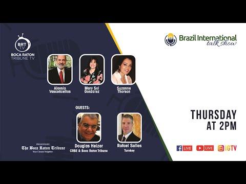 Brazil International talk show, with Douglas Heizer and Rafael Salles