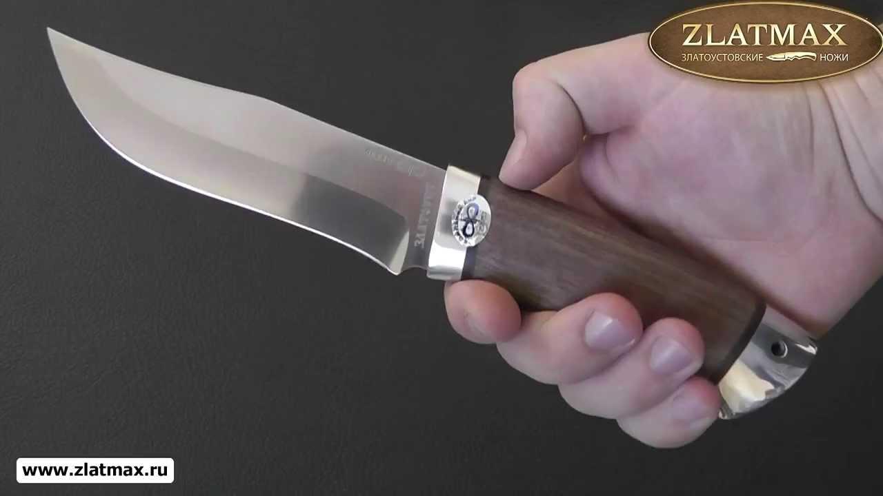 Видео Нож Клычок-3 (100Х13М, Орех, Алюминий)