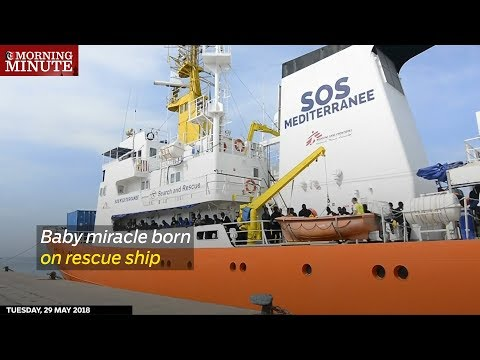 Baby miracle born on rescue ship