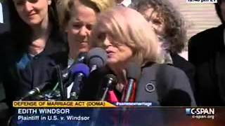 Edie Windsor's remarks on the DOMA case at the Supreme Court