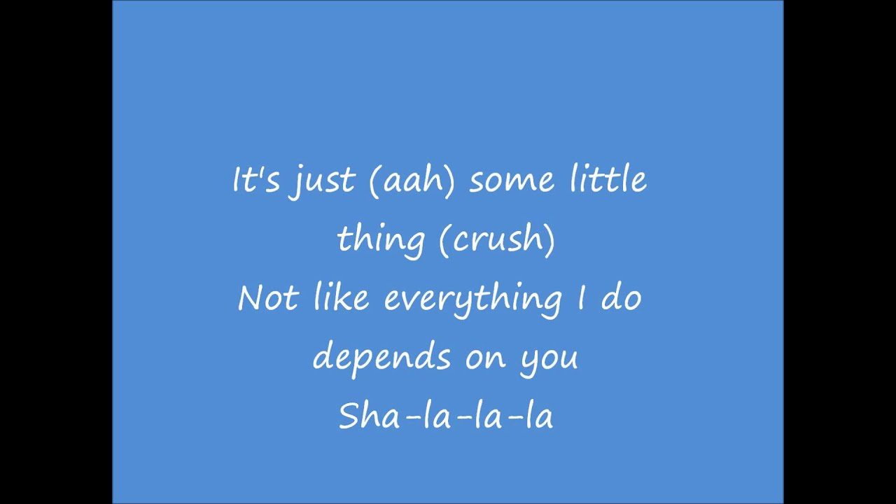 just a little crush lyrics