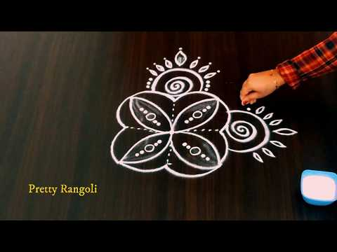 Very Simple But Beautiful Kolam With Just 3*3 Dots