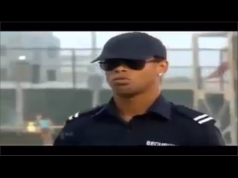 Ronaldinho disguised as police to surprise a group of football players