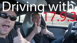 Driving with update 17.9.3 & Tesla News!