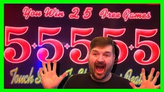 BIG WINS! RARE SLOT MACHINE! 5 BONUS SYMBOL HT! BIG CITY 5's Slot Machine BONUSES W/ SDGuy1234