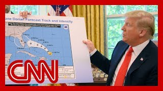 Trump appears to show altered Hurricane Dorian map
