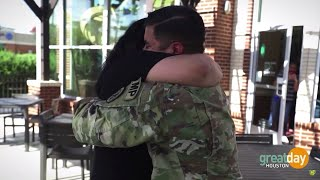 Soldier Surprises Mom After Serving Three Years In Army