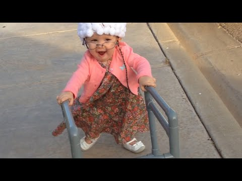Toddler Dressed as Old Lady & Toddler Dressed as Old Lady - YouTube