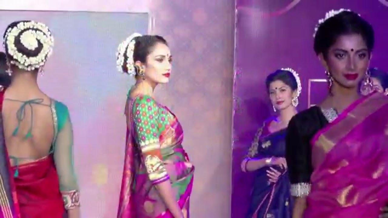 Chennai Hot Models In Saree - A Must Watch Fashion Show -4531