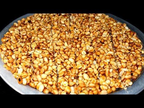 Peanut Chikki Recipe    Groundnut Chikki with Jaggery