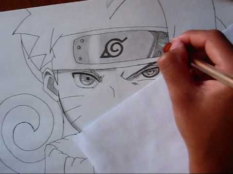 how to draw sasuke shippuden face