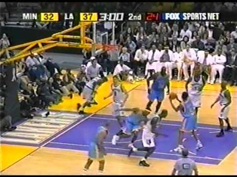 T'Wolves @ Lakers, 2002 (1940s alternates)[Kobe headband!]