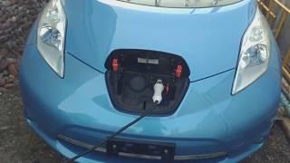 Заряжаем Nissan Leaf AZE0 без контура заземления.