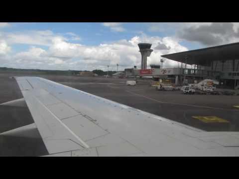 Flight attendant welcome speech on Surinam Airways flight from Cayenne to Belém