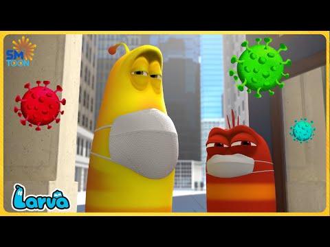 LARVA COVID-19  - Larva Cartoons 2021 | Full Episode Compilation 🍟 Stop Motion Animation Cartoon