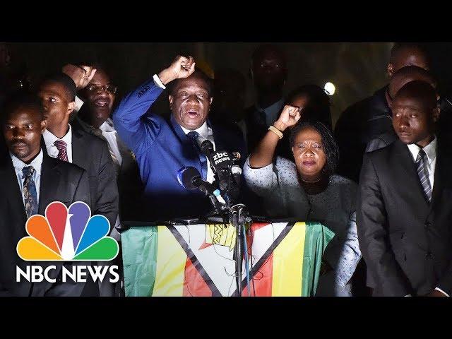 Zimbabwe's Incoming President Emmerson Mnangagwa Addresses Supporters | NBC News