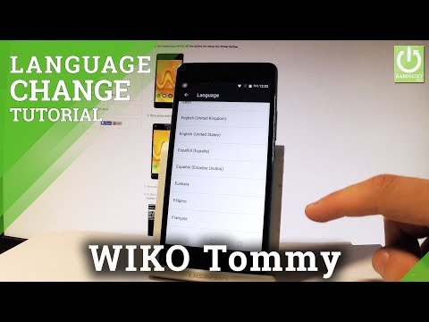 How to Change Language in WIKO Tommy - Set Up Your Language