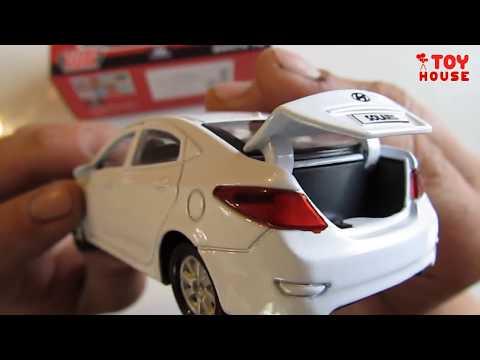 Про машинки.  Hyundai / Хендай Solaris и Santa Fe открываю новые модельки машин. Распаковка и обзор.