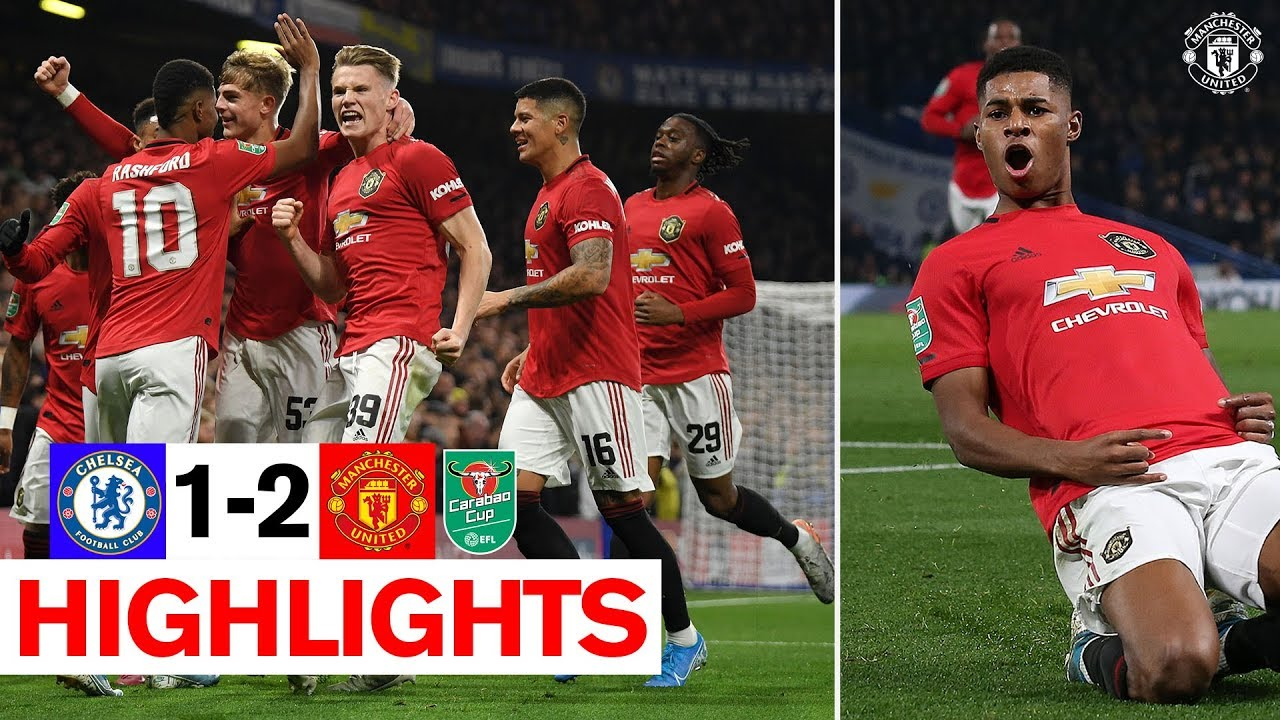 Rashford's stunning free kick sends United through! | Chelsea 1-2 Manchester United | Carabao Cup