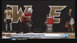Broncos quarterbacks battle for starting position